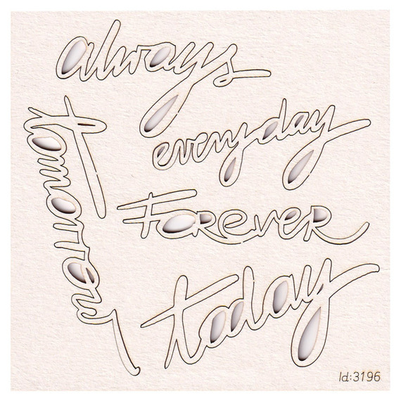 Chipboard Brush art script Lettering - Always
