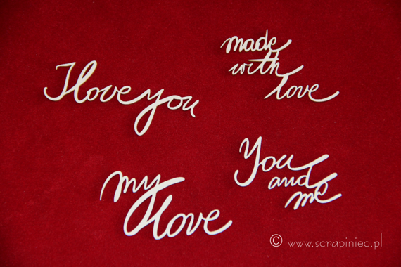Chipboard Brush art script - Love