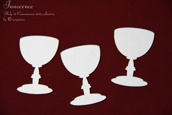 Chipboard Chalice - Innocence simple (3 pcs)