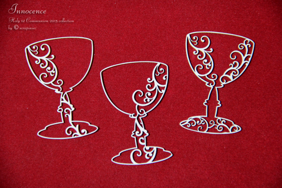 Chipboard Chalice openwork - mix  (3 pcs) - Innocence