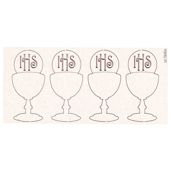 Chipboard - Chalice with host - 4 pcs
