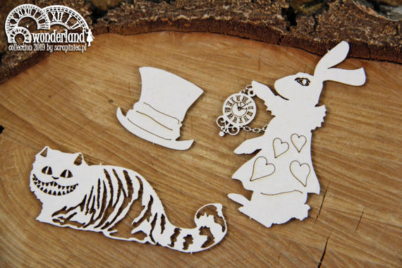 Chipboard - Characters - Alice in Wonderland
