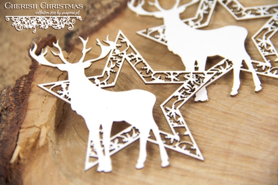 Chipboard - Cherish Christmas - 2 Stars