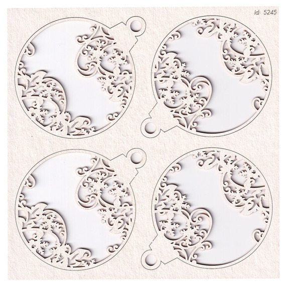 Chipboard - Cherish Christmas - Baubles 02