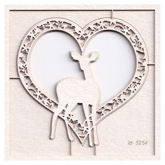 Chipboard - Cherish Christmas - Heart 02