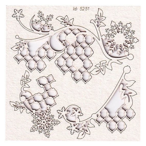 Chipboard Christmas decorations - flowers 02 - Cherish Christmas