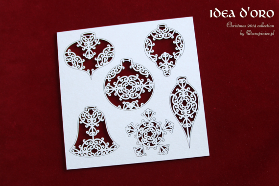 Chipboard Christmas set (6 pcs)- Idea d'oro
