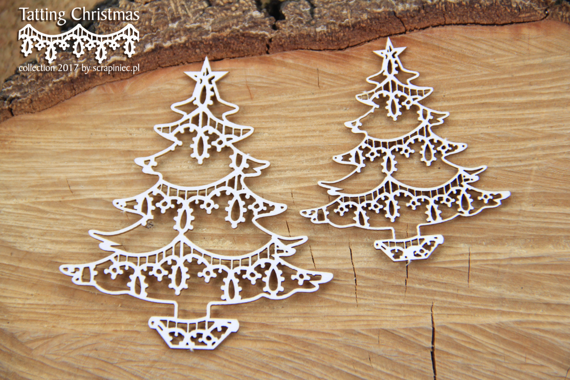 Chipboard - Christmas trees - Tatting Christmas