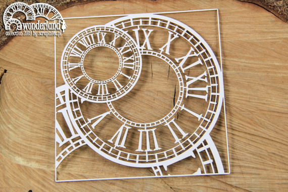 Chipboard - Clocks 01- Alice in Wonderland