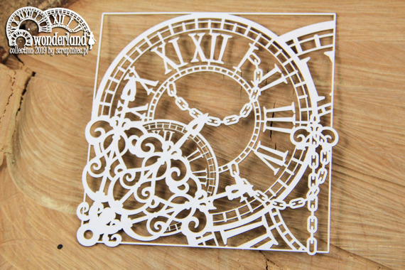 Chipboard - Clocks 02- Alice in Wonderland