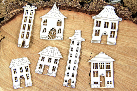 Chipboard Cosy houses - Just Chillin