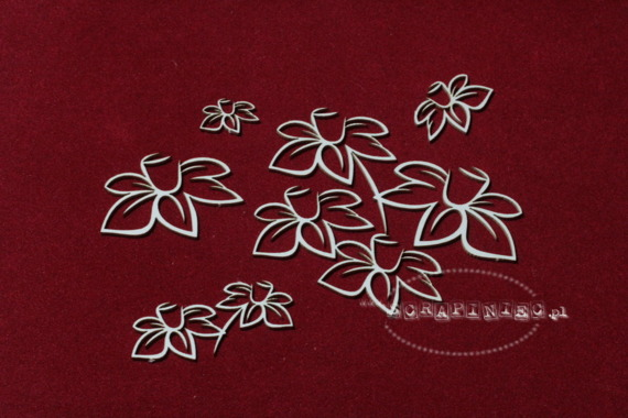 Chipboard Daffodil petals - (23 pcs)