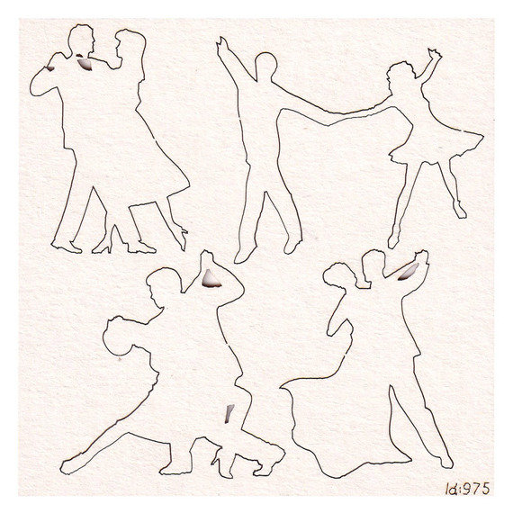 Chipboard Dancing couples