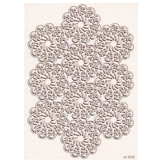 Chipboard - Doily Lace - 1 doily made with 10 rosettes