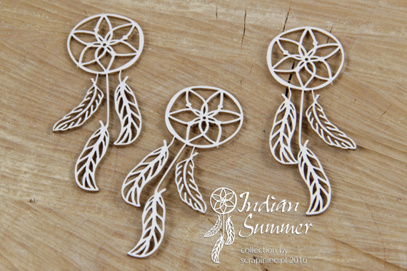 Chipboard Dream Catcher - Indian Summer