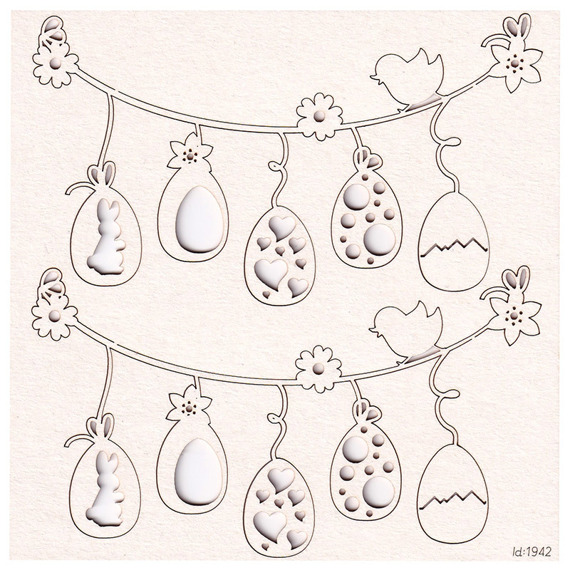 Chipboard Easter Girland (2 pcs)