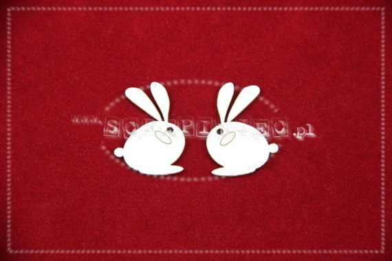 Chipboard Easter bunny - 4 pcs