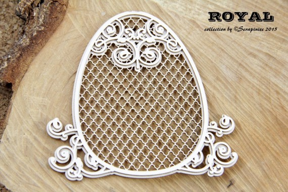 Chipboard Easter egg - Royal Easter -  Egg 02