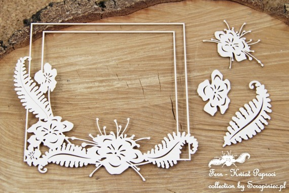 Chipboard - Fern - Square frame
