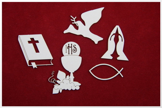 Chipboard First Communion set (5 pcs)