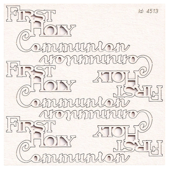 Chipboard - Firsty Holy Communion 01 - Lettering