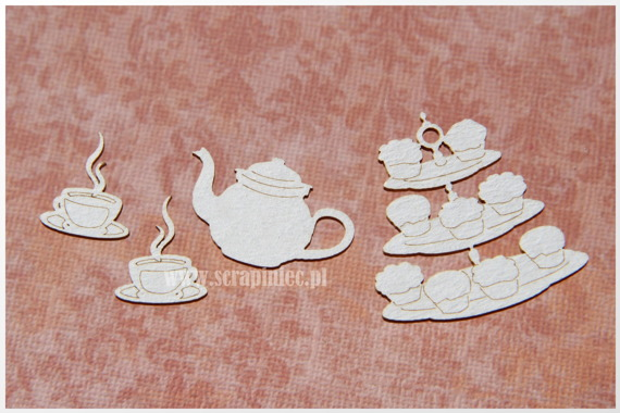 Chipboard Five o'clock tea -  Afternoon tea
