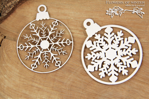 Chipboard - Flowers of Winter - 2 - Layered Bauble