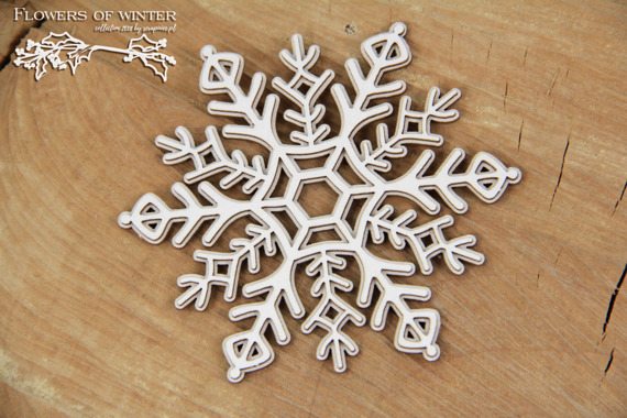 Chipboard - Flowers of Winter - 2 - layers Snowflake