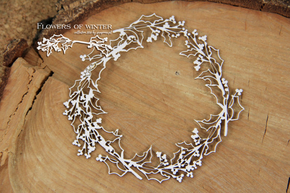 Chipboard - Flowers of Winter - Wreath