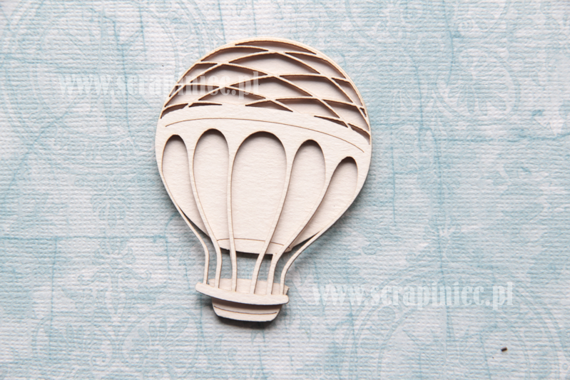 Chipboard Flying Balloon - 2 layers