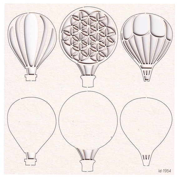 Chipboard Flying balloons
