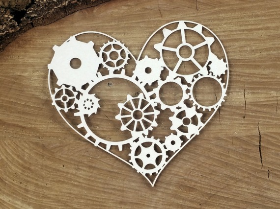 Chipboard - Gear Heart - Steampunk