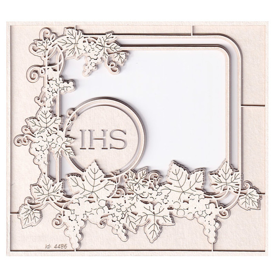 Chipboard - Grapevine - 2- layers rectangle frame