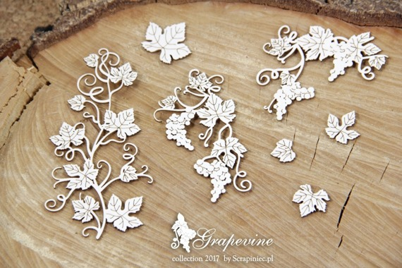 Chipboard - Grapevine - grapes and leaves