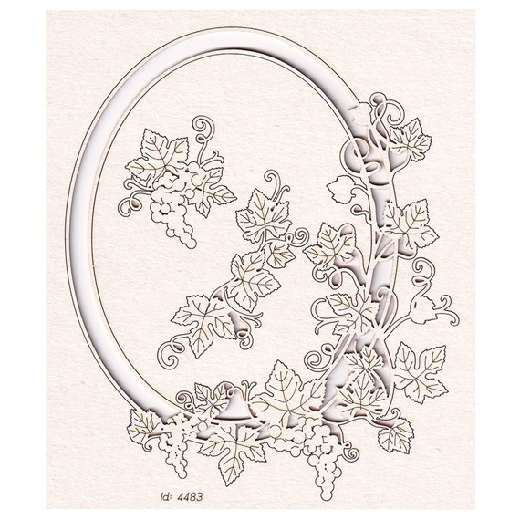 Chipboard - Grapevine - oval frame 01