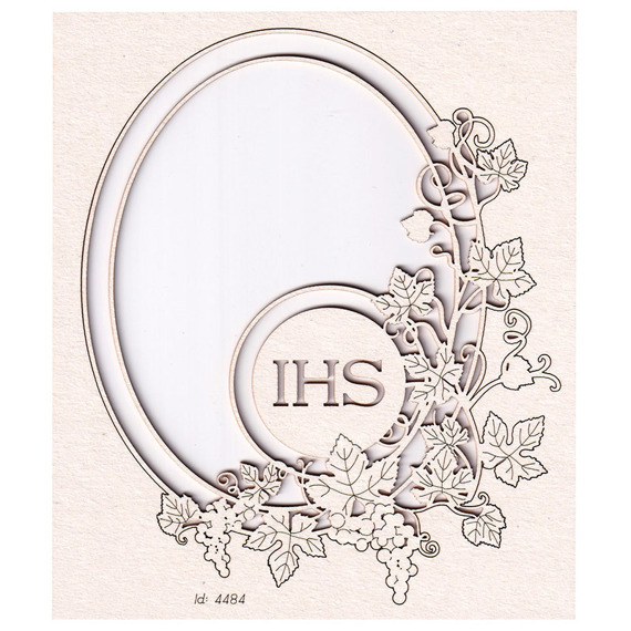 Chipboard - Grapevine - oval frame 02