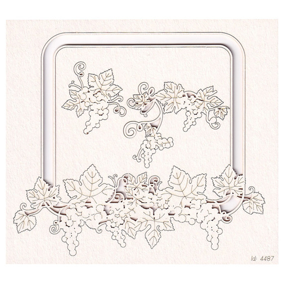 Chipboard - Grapevine - rectangle frame 01