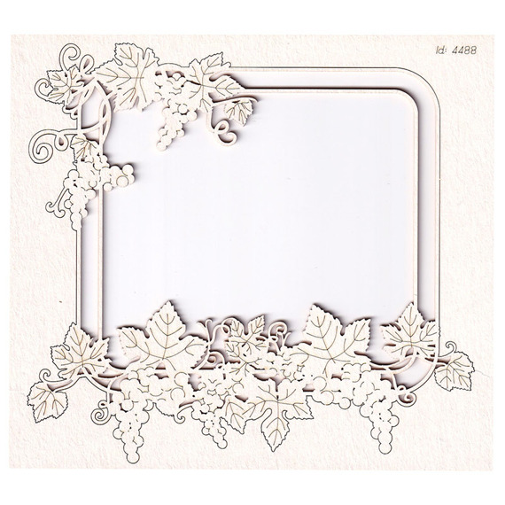 Chipboard - Grapevine - rectangle frame 02
