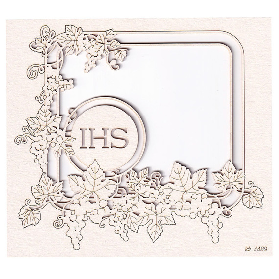 Chipboard - Grapevine - rectangle frame 03