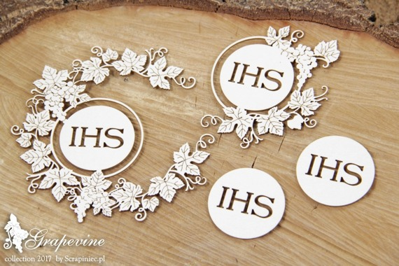 Chipboard - Grapevine - wreath and host