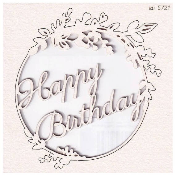 Chipboard Hi Summer Frame 02 Wishes - Happy Birthday
