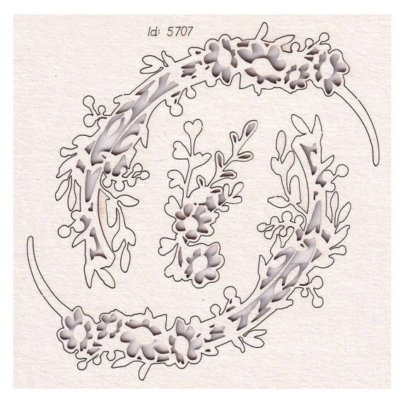 Chipboard Hi Summer - wreaths 01