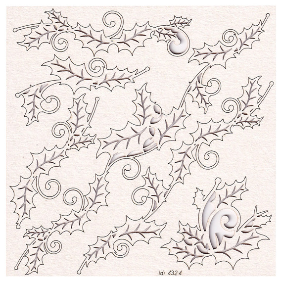 Chipboard - Holly Jolly - borders