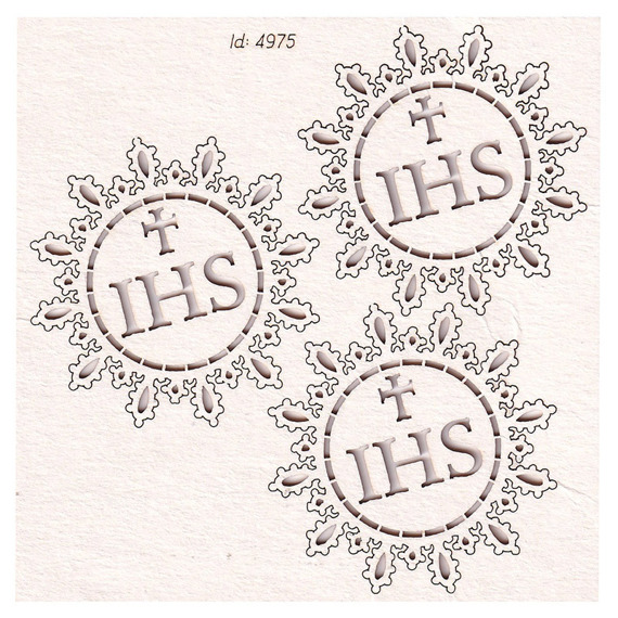 Chipboard - Host small 01- Tatting Communion