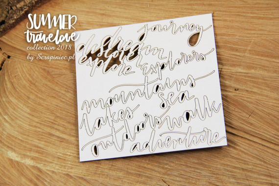 Chipboard Journey letterings - Summer travelove
