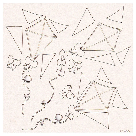 Chipboard Kites - set