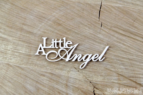 Chipboard Lettering A little angel