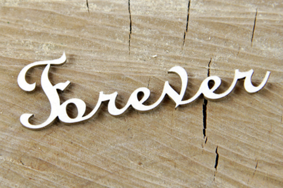 Chipboard Lettering Forever - 2 pcs