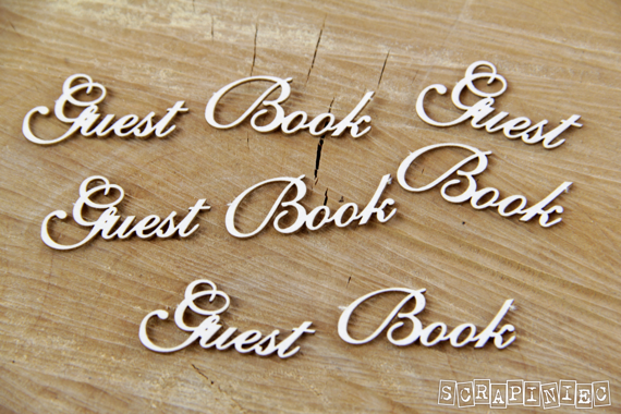 Chipboard Lettering Guest Book - 4 pcs