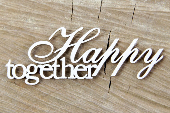 Chipboard Lettering Happy together